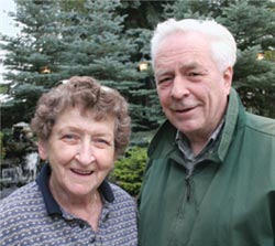 Virginia and Ted Byfield in 2006